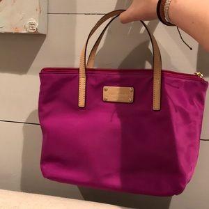 2 kate spade mini bags purple and black!!